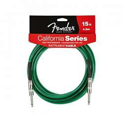 FENDER 15` FGC-15G CALIFORNIA INSTRUMENT CABLE LAKE PLACID BLUE Инструментальный кабель